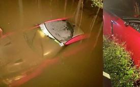 Kỹ thuật viên lái siêu xe Nissan GT-R của khách xuống sông