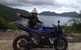 Nữ biker 9x độc hành xuyên Việt trên Yamaha R1 1000 phân khối