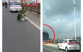 Xôn xao hình ảnh chiếc taxi đỗ cùng vị trí trên cầu Vĩnh Tuy từ nửa năm trước?