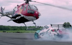 Vũ điệu Drift của xe đua Toyota GT 86 và...trực thăng