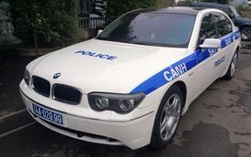 Xôn xao với hình ảnh BMW 745Li làm xe cảnh sát tại Quảng Ninh