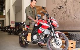 Tuấn Hưng khoe xe côn tay Yamaha FZ150i hàng độc