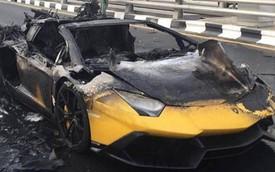 Phiên bản đặc biệt của Lamborghini Aventador bị thiêu rụi hoàn toàn