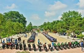 60 chiếc Exciter cùng 18 xe PKL Kawasaki Z1000, Z800 tụ họp tại Long An