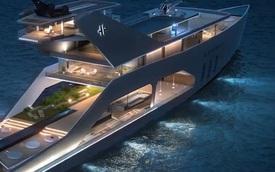 """Du thuyền hạng sang chứa cả một """"bãi biển"""" nhân tạo"""