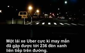 """Anh chàng lái xe """"số đỏ"""" gặp tới 236 đèn xanh liên tiếp"""