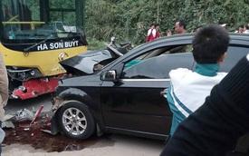 Lào Cai: Xe buýt đấu đầu ô tô 4 chỗ, một bác sĩ tử vong
