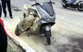 Honda PCX nổ bình xăng giữa đường