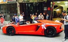 Lamborghini Aventador mui trần 24,5 tỷ Đồng làm xe đón dâu tại Hải Phòng
