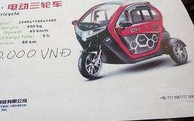 Xe điện ba bánh giá 41 triệu, thiết kế như cabin ô tô