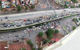 Sáng thứ 2 đầu tuần, hàng loạt tuyến đường tại Hà Nội tắc nghẽn