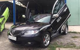 """Mazda3 2005 lên đời với """"đèn Audi, cửa Lamborghini"""" tại Đà Nẵng"""
