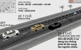 Xe ô tô màu đen đỗ ngược chiều liên quan thế nào đến vụ xe Camry đâm người?