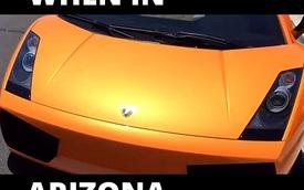Nóng kỷ lục gần 50 độ, dân Mỹ nướng bánh trên siêu xe Lamborghini