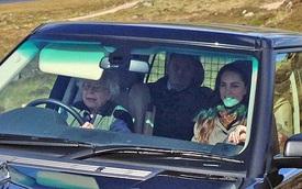 Nữ hoàng Anh tự lái xe đưa cháu dâu đi dạo quanh lâu đài ở Scotland