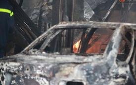 Hà Nội: Cháy gara ô tô tại Văn Quán, 1 xe ô tô cháy rụi