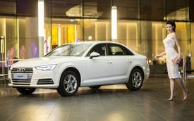 Á hậu Tú Anh khoe vẻ đẹp kiêu sa bên Audi A4 thế hệ mới