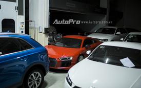 Hà Nội: Audi R8 tập kết cùng dàn xe sang chuẩn bị cho triển lãm riêng