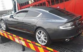 Aston Martin Rapide S 2016 của đại gia Nghệ An lăn bánh trên phố