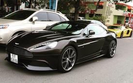 Bắt gặp Aston Martin Vanquish thứ 3 tại Việt Nam lăn bánh trên phố