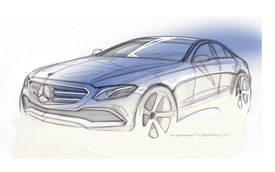 Mercedes-Benz tung hình ảnh phác họa của E-Class 2017