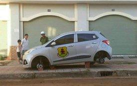Biên Hòa: Sau BMW 3-Series, đến lượt 2 chiếc Hyundai Grand i10 bị ăn trộm bánh xe