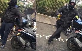 Kẻ gian đi xe ga Piaggio, hỗ trợ đồng bọn ăn trộm Ducati 1199 Panigale