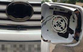 """Hà Nội: Xe sang Lexus LX570 bị kẻ trộm """"dọn sạch"""" phụ tùng"""