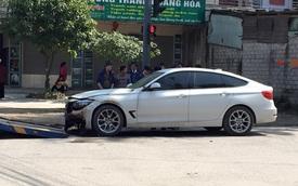 Hà Tĩnh: Xe sang BMW 328i Gran Turismo bốc cháy trong ngày đầu năm mới