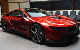 """BMW i8 cực """"hot"""" với màu sơn đỏ nham thạch """"hàng thửa"""""""