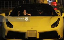 """Cường """"Đô-la"""" lái siêu xe Ferrari 488 GTB mới tậu đưa đón Hạ Vi"""