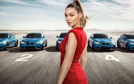 """Siêu mẫu Gigi Hadid """"hớp hồn"""" cánh mày râu khi sánh đôi cùng BMW M2"""