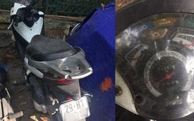 Honda SH150i đời cũ bị bỏ rơi tại bãi gửi xe ở Hà Nội