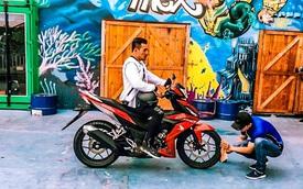 Honda Winner 150 lộ diện trong buổi chụp quảng cáo tại Việt Nam
