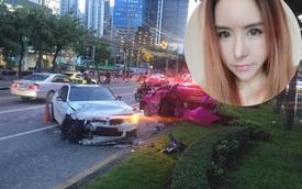 Hot girl Thái Lan lái BMW 4-Series Gran Coupe gây tai nạn liên hoàn