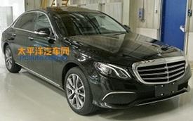 Mercedes-Benz E-Class phiên bản kéo dài lộ diện rõ hơn