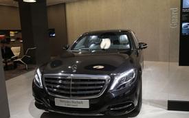 """Cận cảnh """"pháo đài thép"""" Mercedes-Maybach S600 Guard ngoài đời thực"""