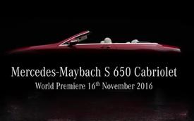 Mercedes-Maybach S650 Cabriolet - Xe mui trần siêu sang sắp ra mắt