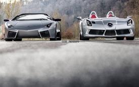 """Cận cảnh hai siêu xe Lamborghini và Mercedes hiếm trong """"ngày chung đôi"""""""