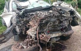 Hiện trường rùng mình của vụ tai nạn giữa Lexus GX460 và xe máy tại Quảng Ninh