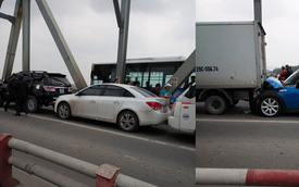 Tai nạn liên hoàn giữa 4 ô tô trên cầu Chương Dương