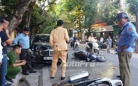 Hà Nội: Mercedes-Benz E250 gây tai nạn liên hoàn, 4 người nhập viện