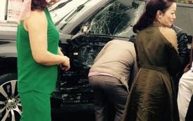 Quảng Ninh: Range Rover bị xe tải đâm bẹp sườn