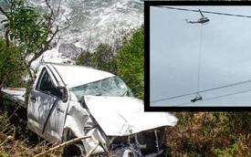Toyota Hilux được cứu hộ bằng trực thăng sau tai nạn do tài xế 17 tuổi gây ra