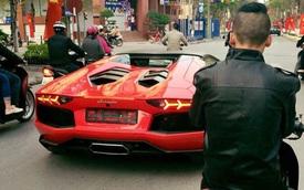 Lamborghini Aventador Roadster duy nhất tại Việt Nam dạo phố chiều cuối năm