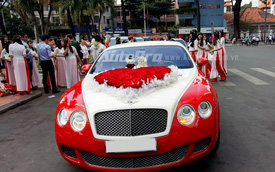 Bắt gặp Bentley Continental GT Speed màu độc Việt Nam làm xe hoa