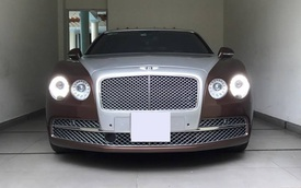 Bentley Flying Spur màu độc của thiếu gia 9X Sài thành được cho đi làm đẹp