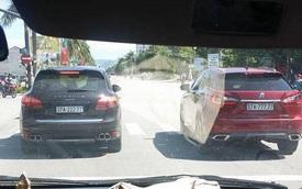 """Xôn xao với cặp đôi SUV tiền tỷ Porsche và Lexus đeo biển """"ngũ quý"""" tại Nghệ An"""