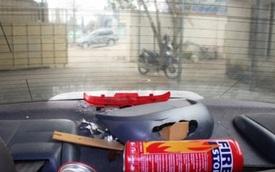 Bình cứu hỏa phát nổ trong xe ô tô con ở Thanh Hóa