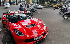 Cận cảnh Chevrolet Corvette C7 Z06 màu đỏ duy nhất tại Việt Nam
